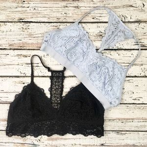 2 Aerie Lacy Bralettes Bundle Lot